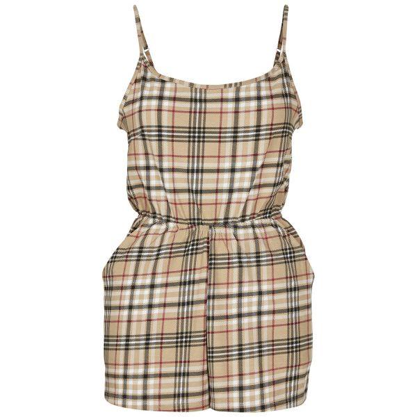Urban Classics Ladies - Short Spaghetti Sommer Jumpsuit
