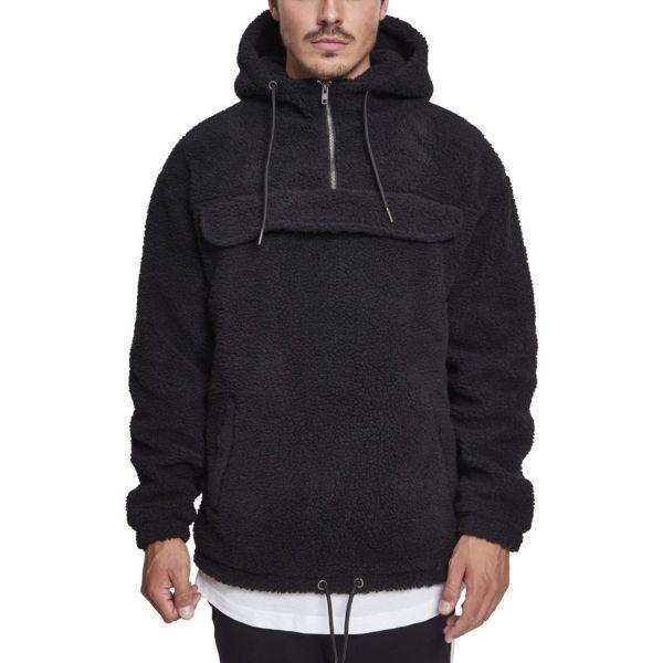 Urban Classics - Sherpa Pull Over Hoody black