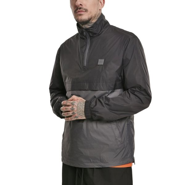 Urban Classics - Stand-Up Pull Over Jacket black