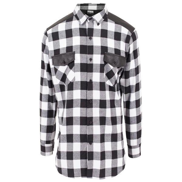 Urban Classics - FLANELL Holzfäller Zipper Hemd, extra lang