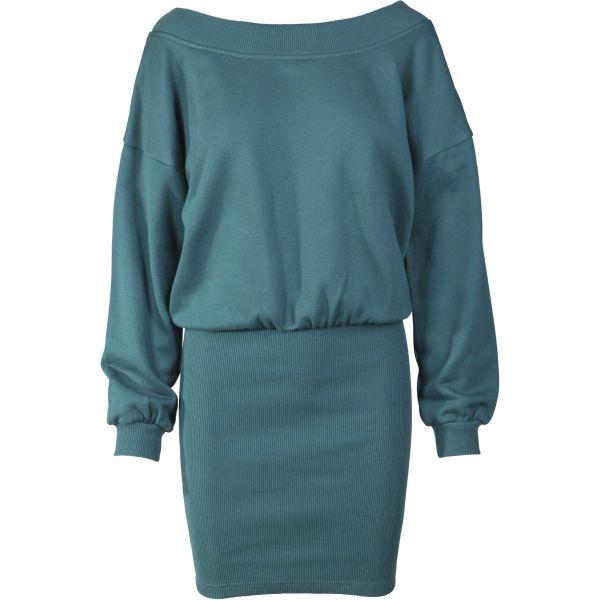 Urban Classics Ladies - Off Shoulder Sweat Kleid