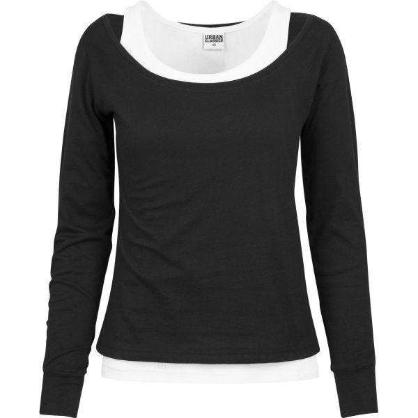 Urban Classics Ladies - Two-Colored Longsleeve Shirt