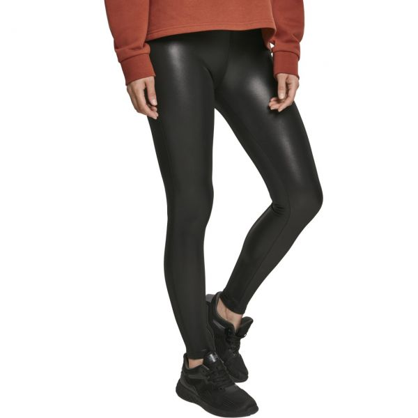 Urban Classics Ladies - Lederimitat Leggings schwarz