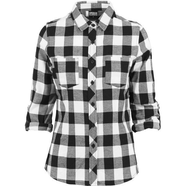 Urban Classics Ladies - TURNUP FLANELL Holzfäller Hemd