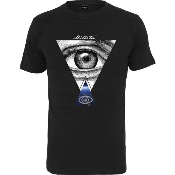 Mister Tee Shirt - EYES schwarz