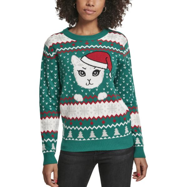 Urban Classics Ladies - Kitty Christmas Sweater green