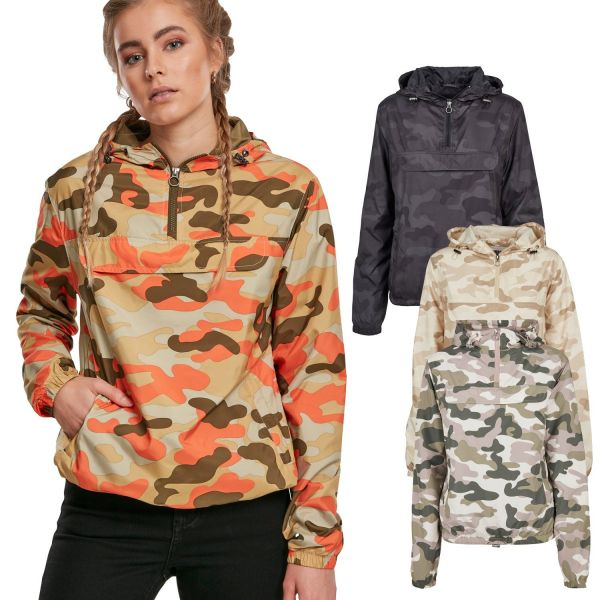 Urban Classics Ladies - PULL OVER Jacket dark camo