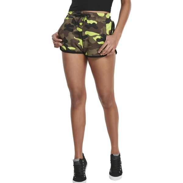 Urban Classics Ladies - Hot Pants Short gelb camo