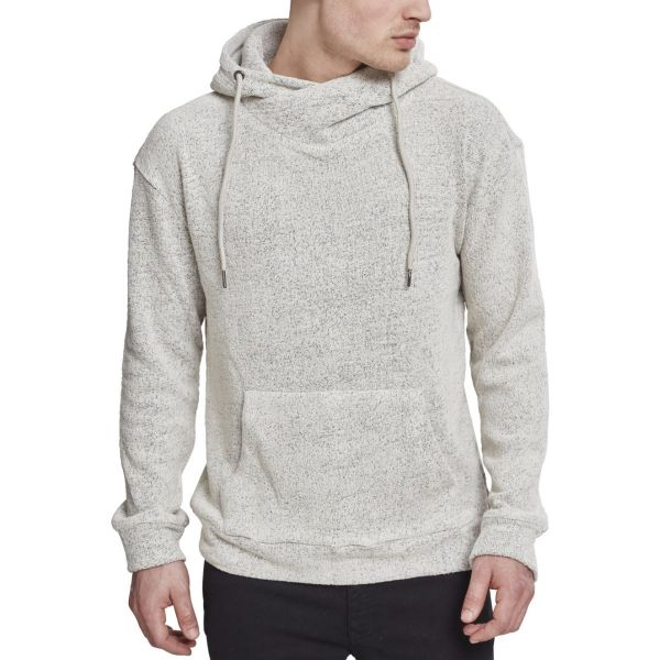 Urban Classics - High Neck Loop Terry Hoody gris