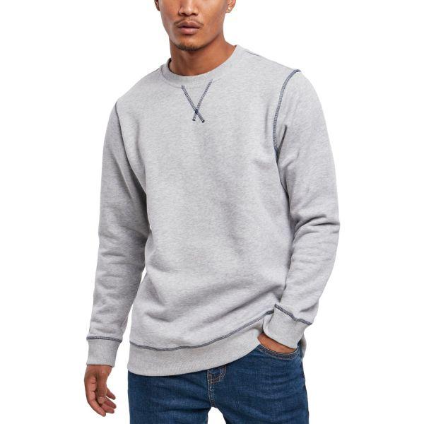 Urban Classics - Organic Flatlock Stitched Crewneck Pullover