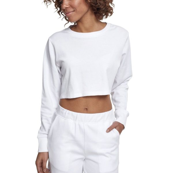 Urban Classics Ladies - Cropped Terry Pullover rose