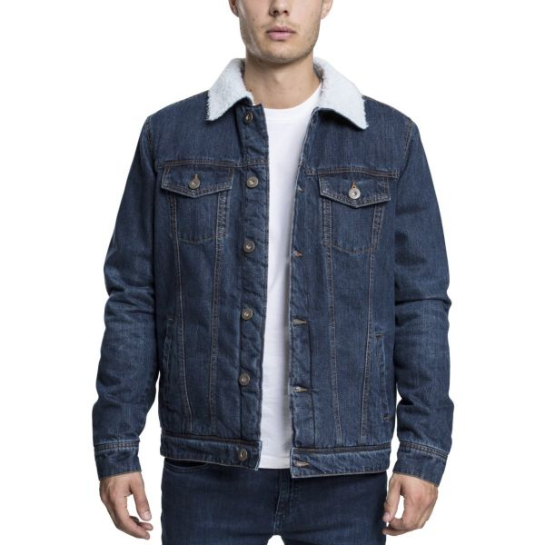 Urban Classics - RIPPED Denim Veste blue washed