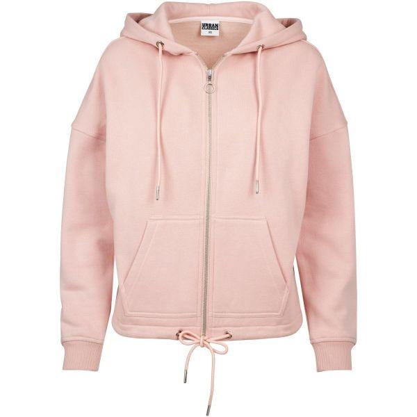 Urban Classics Ladies - KIMONO Zip Hoody Fleece Sweater