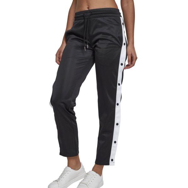 Urban Classics Ladies - Button Up Retro Track Pantalon blanc