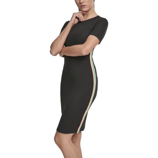 Urban Classics Ladies - Side Taped Stretch Kleid schwarz