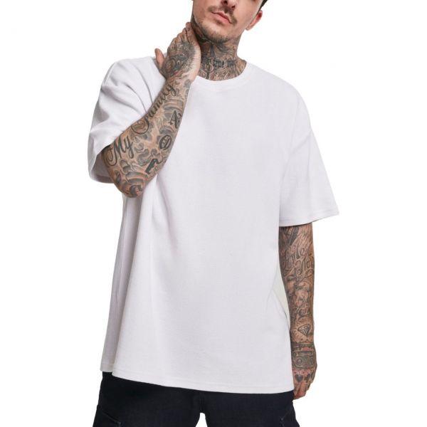 Urban Classics - Oversized Waffle Shirt blanc