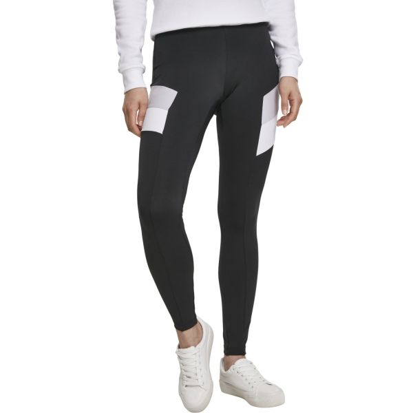 Urban Classics Ladies - Color Block Leggings noir / violett
