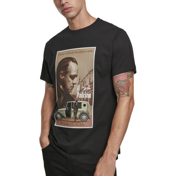 Merchcode Shirt - Godfather Poster Shirt schwarz
