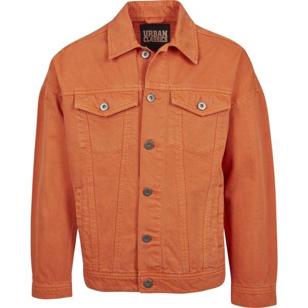 Urban Classics - Oversize Garment Denim Veste powder jaune