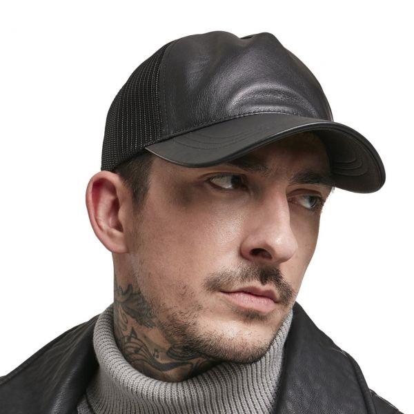 Flexfit Kunstleder Trucker Snapback Cap