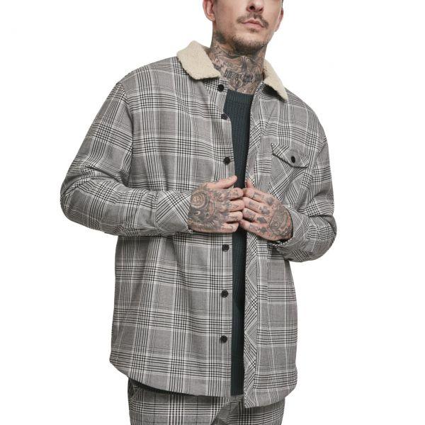 Urban Classics - SHERPA Lined Glencheck Shirt Jacke