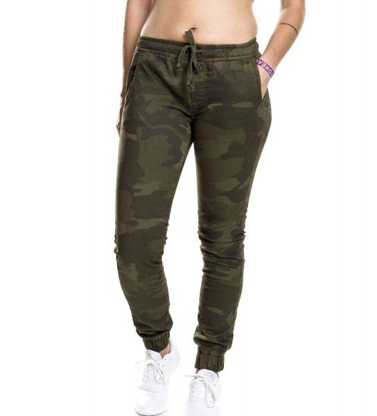 Urban Classics Ladies - Jogging Pants Stretch Hose camo