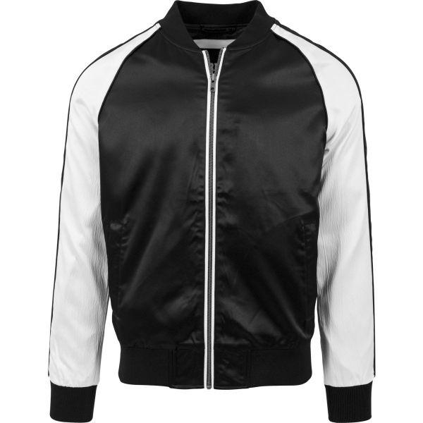Urban Classics - SOUVENIR Bomber Satin Jacket black