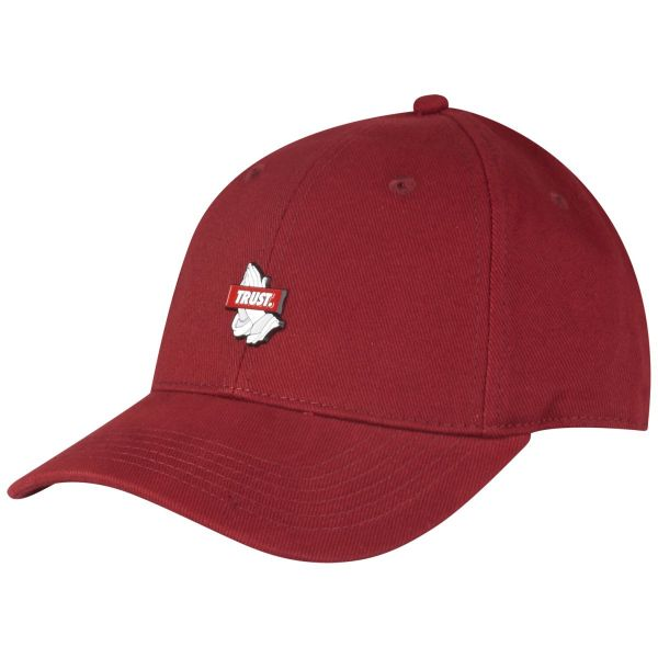 Cayler & Sons Curved Strapback Cap - TRUST maroon