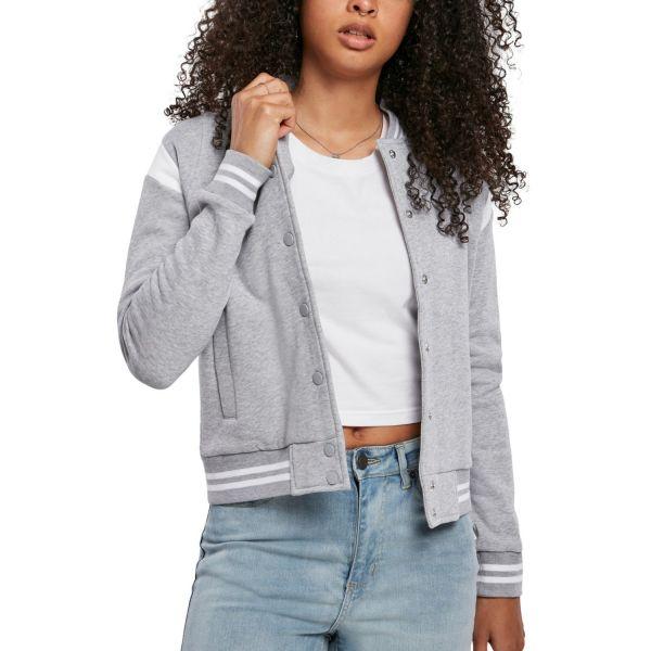 Urban Classics Ladies - ORGANIC College Sweat Jacke