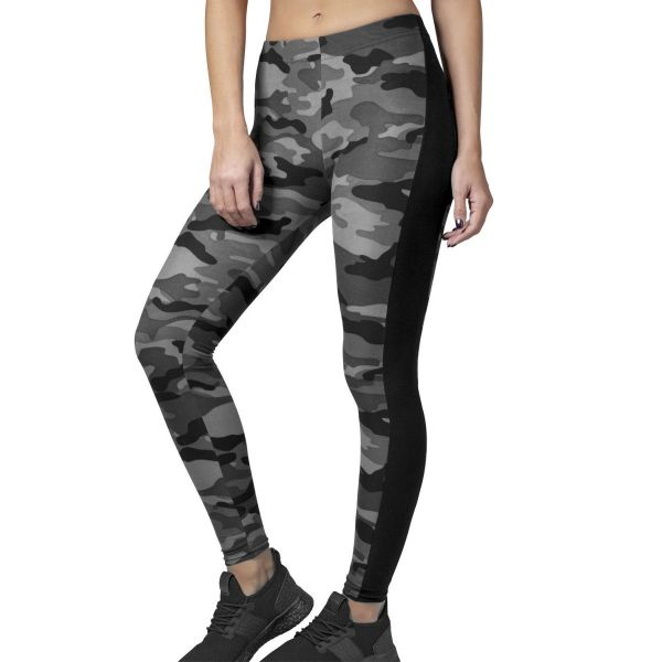 Urban Classics Ladies - CAMO Stripe Leggings wood camo