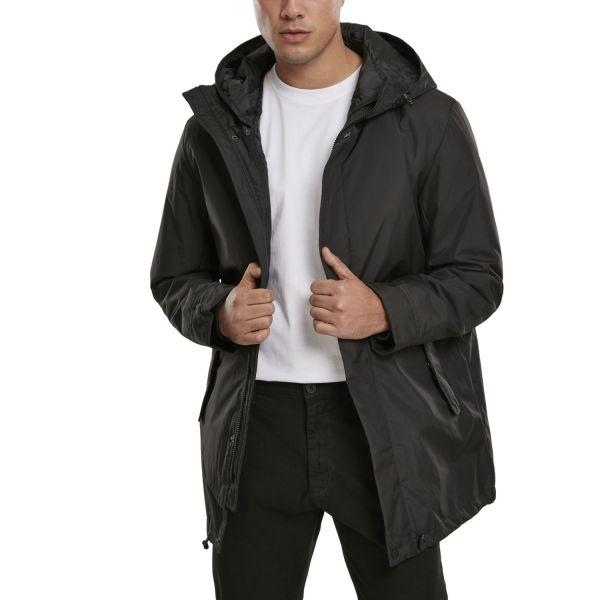 Urban Classics - Long Hooded Winter Jacket black