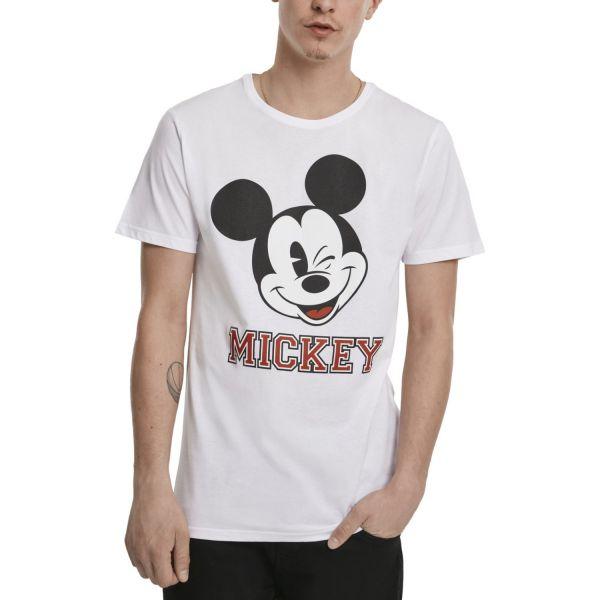 Merchcode Shirt - Mickey College weiß