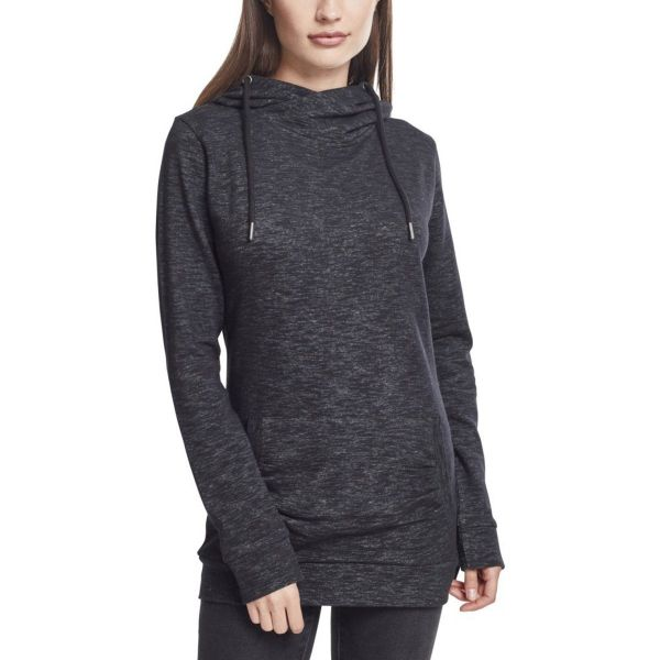 Urban Classics Ladies - Slub Terry High Neck Hoody noir