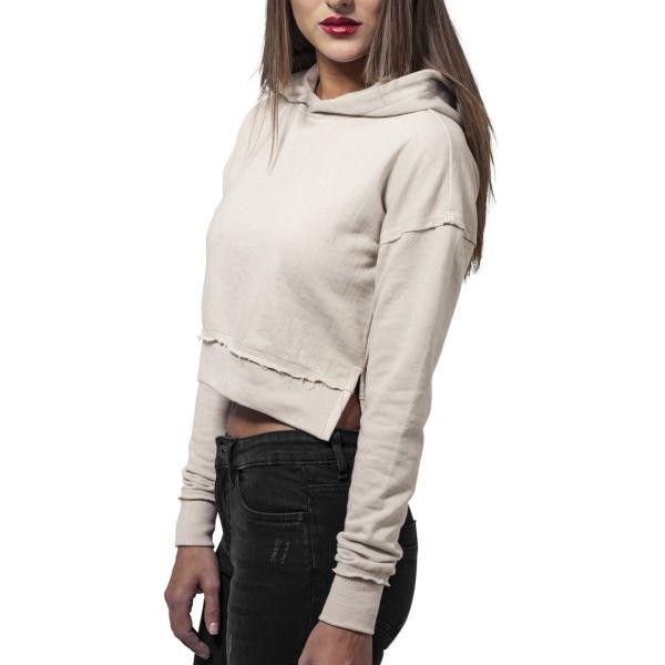 Urban Classics Ladies - Short Slub Terry Hoody Sweatshirt