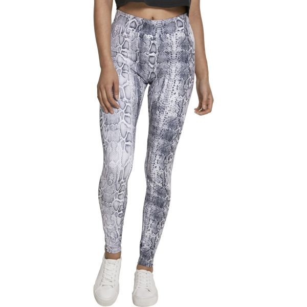 Urban Classics Ladies - Animal Pattern Stretch Leggings