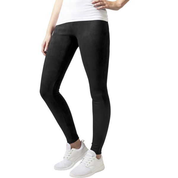 Urban Classics Ladies - Wildleder-Imitat Leggings schwarz