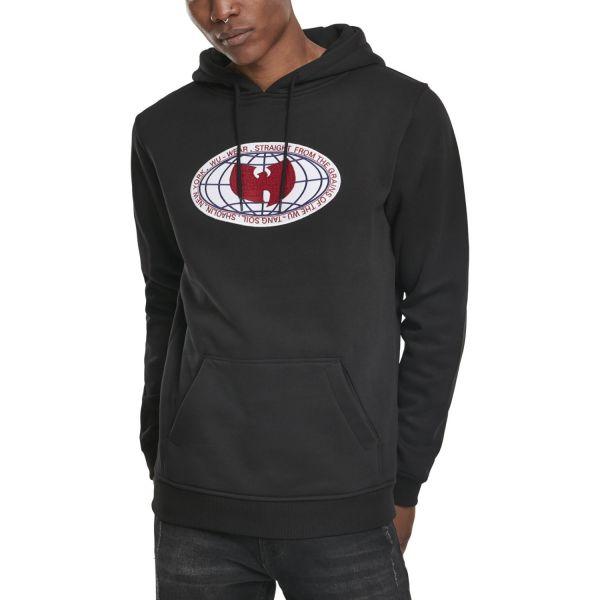 Wu-Wear Hip Hop Hoody - Globe Patch black