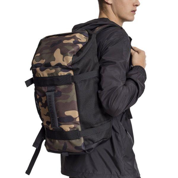 Urban Classics - TRAVELLER Backpack Rucksack schwarz / wood