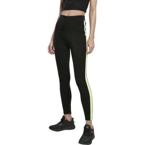 Urban Classics Ladies - NEON SIDE TAPED Leggings schwarz