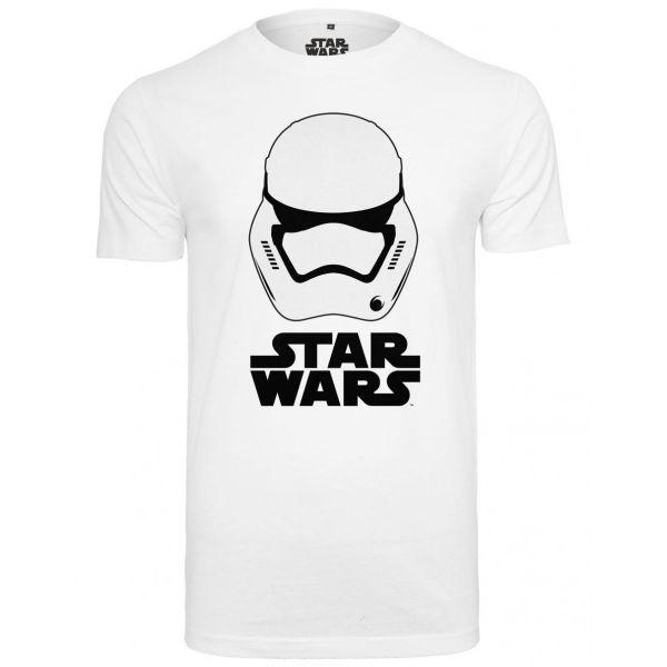 Merchcode Shirt - STAR WARS Helm weiß