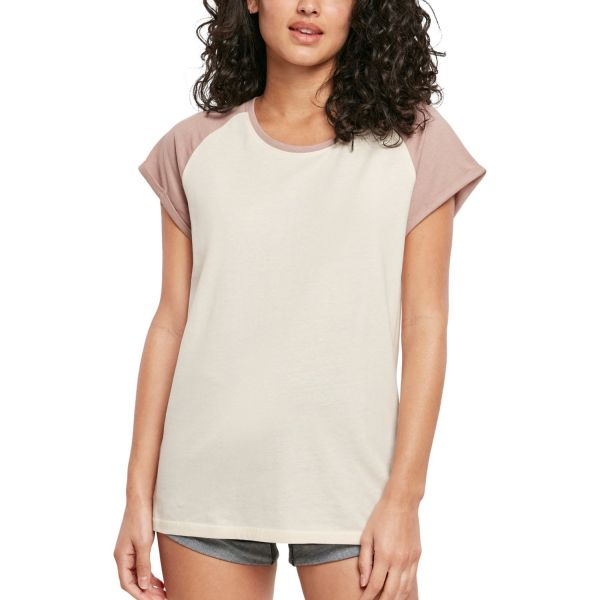 Urban Classics Ladies - RAGLAN Contrast Top Long Shirt