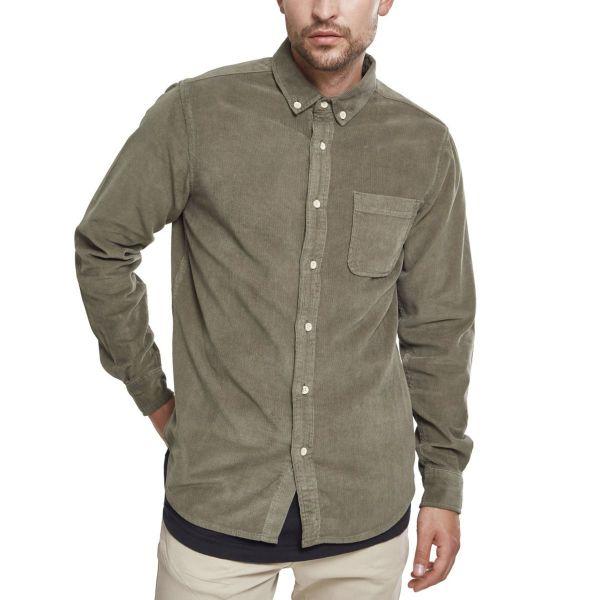 Urban Classics - Corduroy Shirt dusty blue
