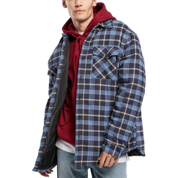 Urban Classics - Plaid Quilted Shirt Jacke hellblau