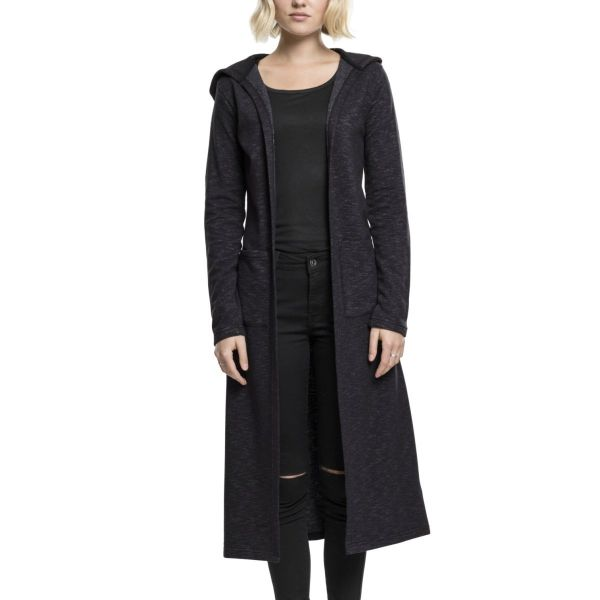 Urban Classics Ladies - Space Dye Hooded Cardigan schwarz