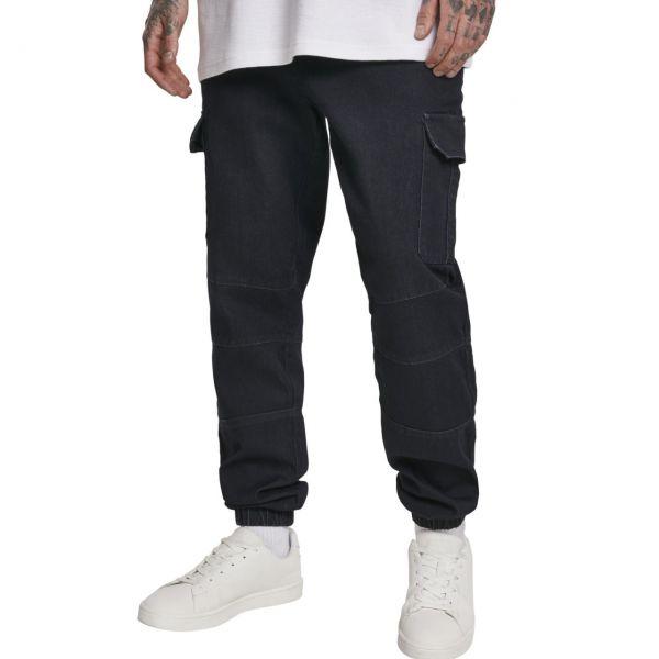 Urban Classics - CARGO Jogging Denim Jeans noir