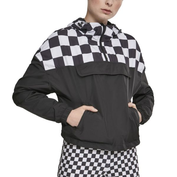 Urban Classics Ladies - PULL OVER Oversize Jacke chess