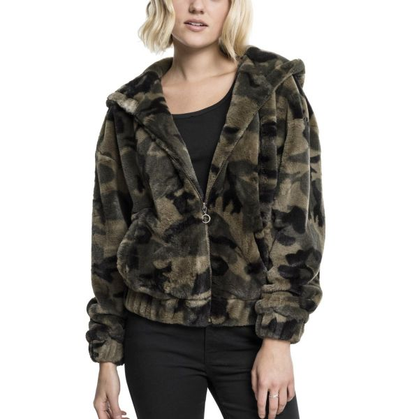 Urban Classics Ladies - TEDDY Oversized Hoody Winterjacke