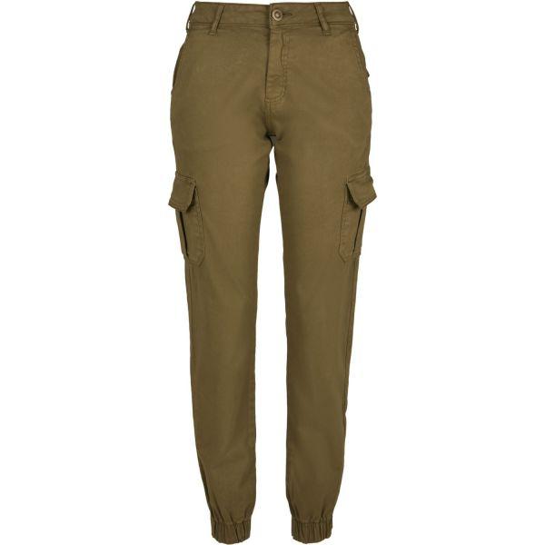 Urban Classics Ladies - High Waist Stretch Cargo Pants beige