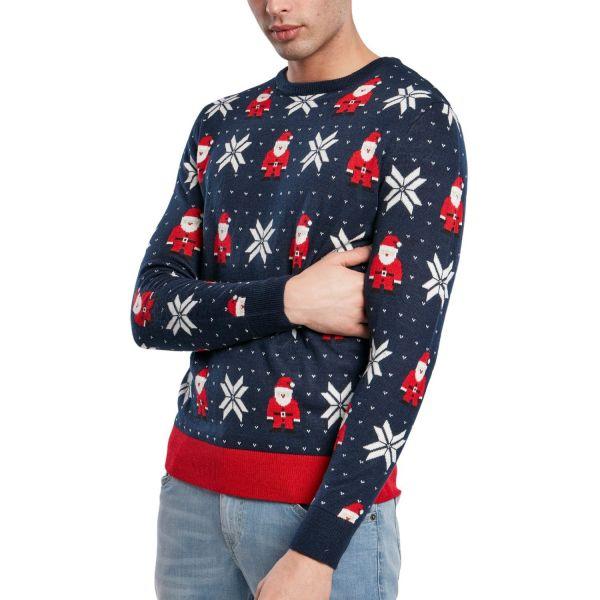 Urban Classics - Nikolaus Snowflakes Christmas Sweater