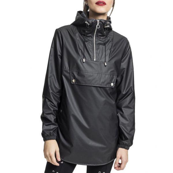 Urban Classics Ladies - High Neck Pull Over Jacke schwarz